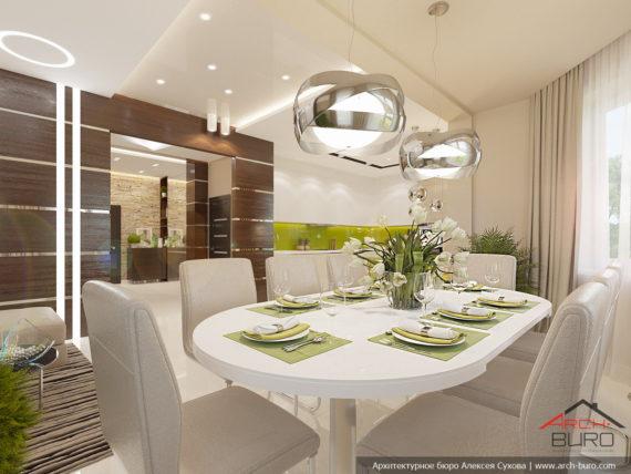 Дизайн дома. Столовая