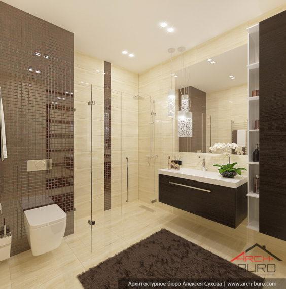 Дизайн дома. Душевая комната