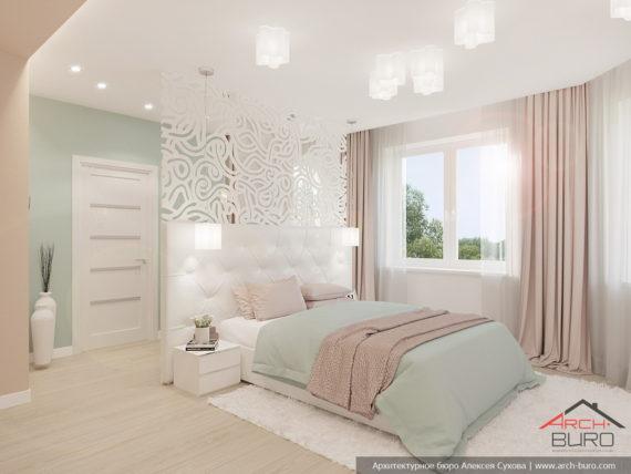 Загородный дом. Дизайн спальни