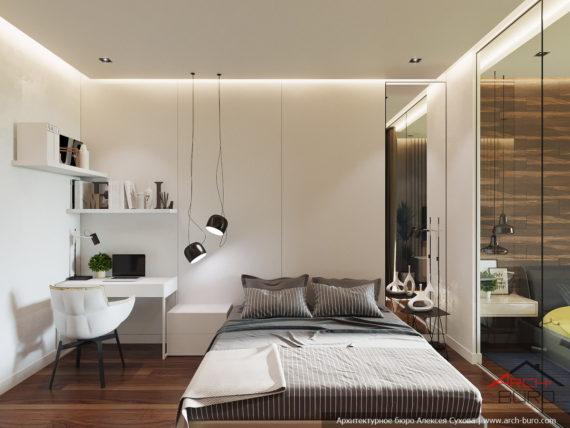 Дизайнер в Сочи выполнил проект спальни