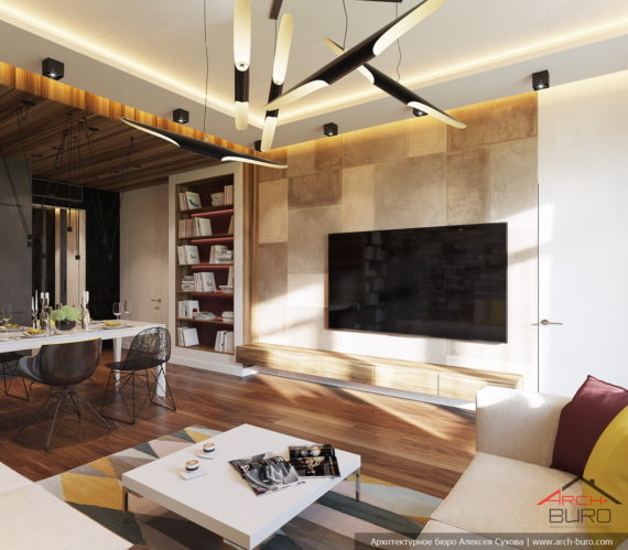 Дизайн квартиры в Сочи. Интерьер гостиной