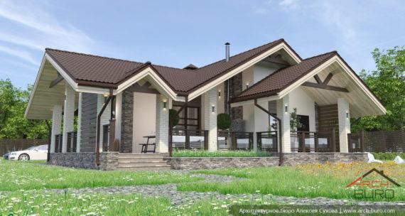 Проекты красивых бань с оригинальными крышами