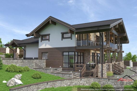 Проекты домов с уклоном