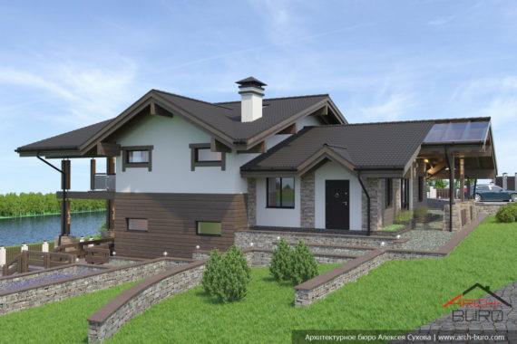Проекты домов на участке с уклоном