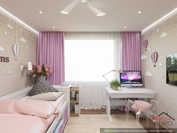Дизайн комнаты девочки. Москва