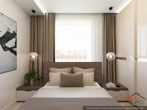 Загородный дом. Дизайн гостевой спальни