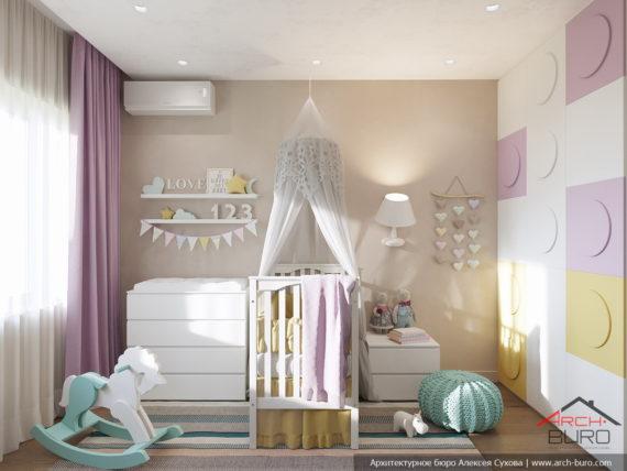 Дизайн трехкомнатной квартиры. Детская комната