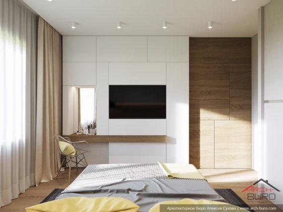 Дизайн трехкомнатной квартиры. Спальня родителей