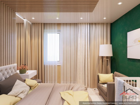 Дизайн квартира в г. Гомель. Спальня