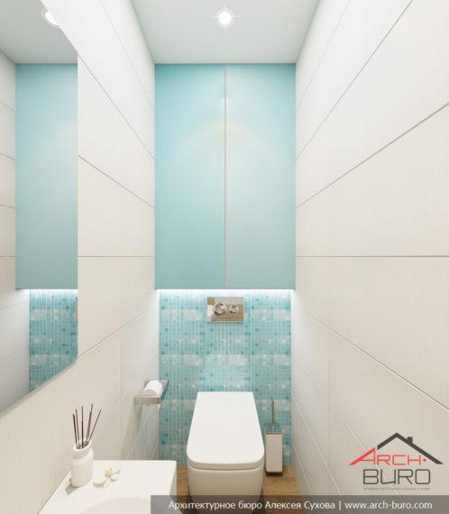 Дизайн квартира в г. Гомель. Туалет