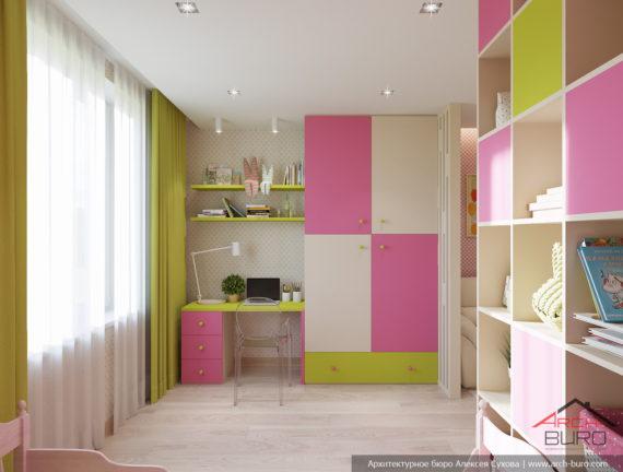 Идеи современного дизайна. Интерьер спальни младшей дочери