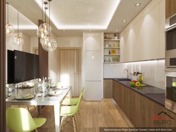 Идеи современного дизайна. Интерьер кухни
