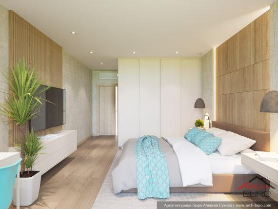 Идеи современного дизайна. Интерьер спальни родителей