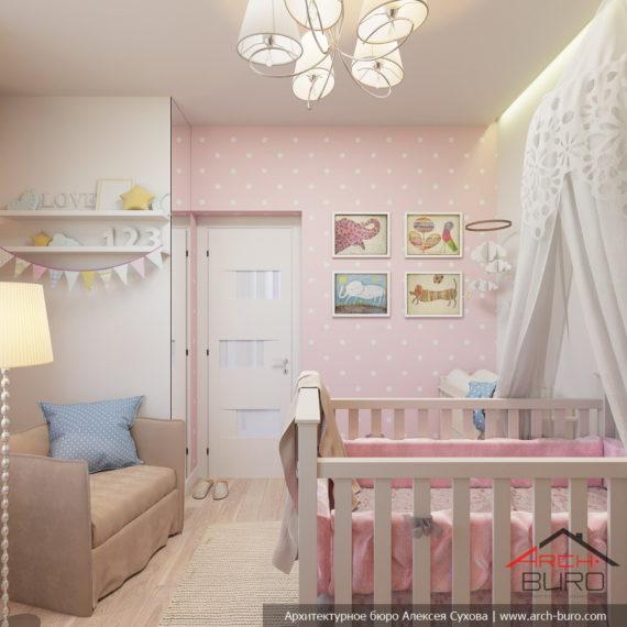 Белые интерьеры квартиры. Дизайн комнаты девочки