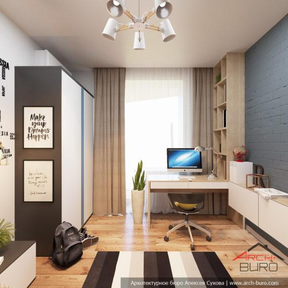 Белые интерьеры квартиры. Дизайн комнаты мальчика