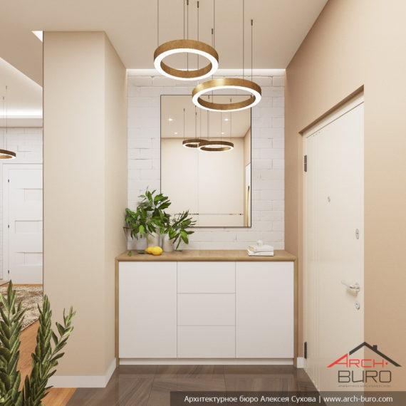Белые интерьеры квартиры. Дизайн прихожей
