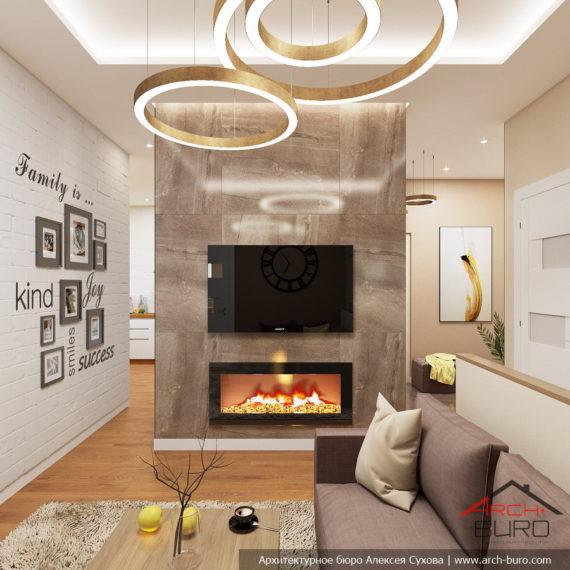 Белые интерьеры квартиры. Дизайн гостиной