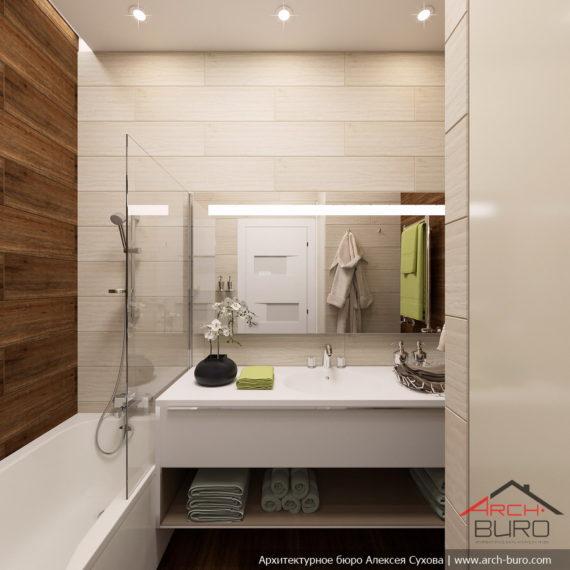 Белые интерьеры квартиры. Дизайн ванной комнаты