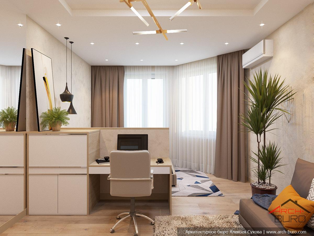 Дизайн кабинета для молодой женщины Современные идеи 79