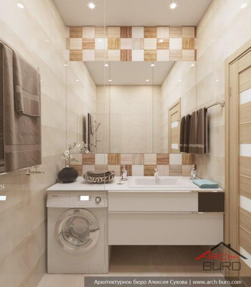 Ванна в однокомнатной квартире, город Реутов