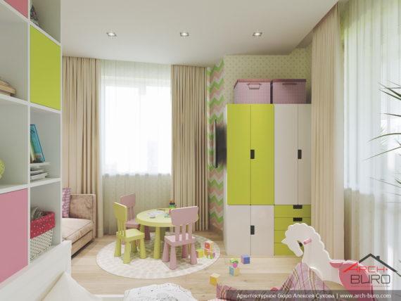 Дизайн квартиры в Москве. Комната дочери