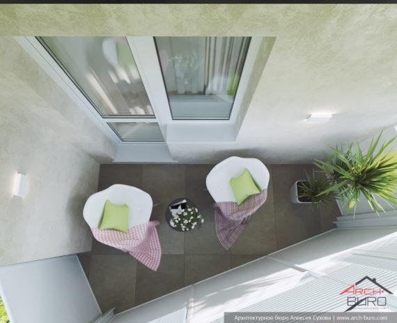 Дизайн квартиры в Москве. Лоджия