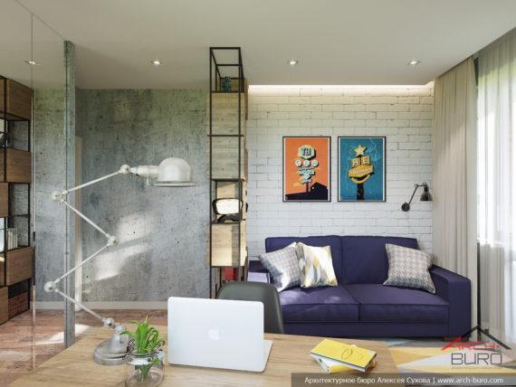 Дизайн квартиры в Москве. Комната сына