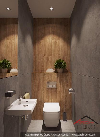 Дизайн квартиры в Москве. Санузел в современном стиле