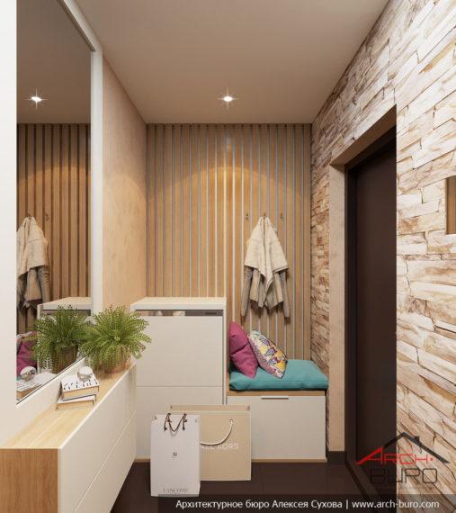 1-комнатная квартира-студия в Москве. Интерьер прихожей