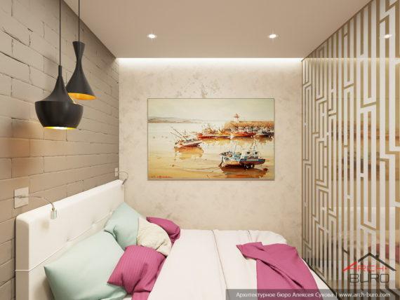 1-комнатная квартира-студия в Москве. Спальное место