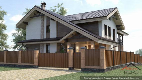 Проект коттеджа в г. Южно-Сахалинск
