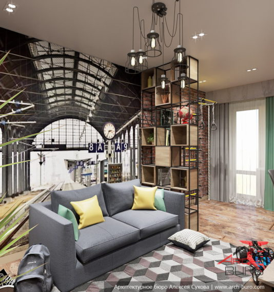 Дизайн комнаты для мальчика в г. Новосибирск