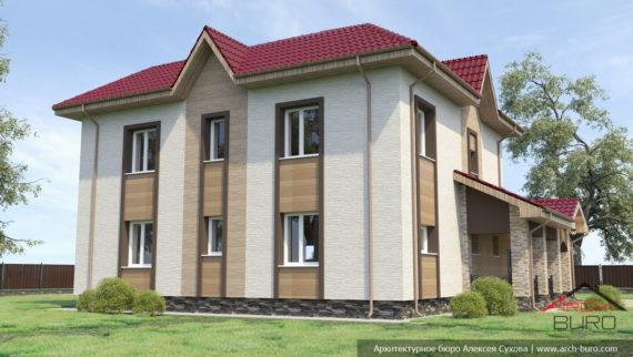 Дизайн и оформление фасадов частного жилого дома