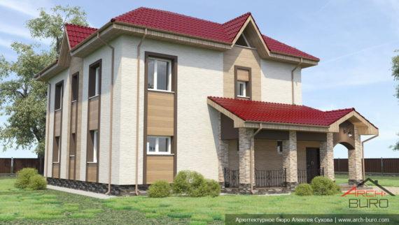 Дизайн дома японскими вентилируемыми фасадами NICHIHA