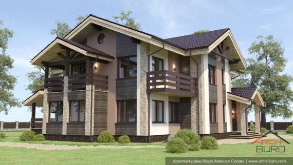 Проекты двухэтажных домов. Коттедж в Перми