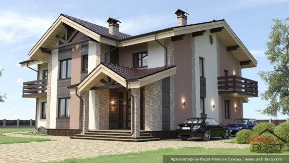 Проекты двухэтажных домов из силикатного камня. Коттедж в Перми
