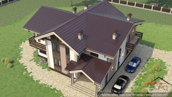 Проект частного 2-х этажного жилого дома