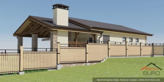 Забор и гараж