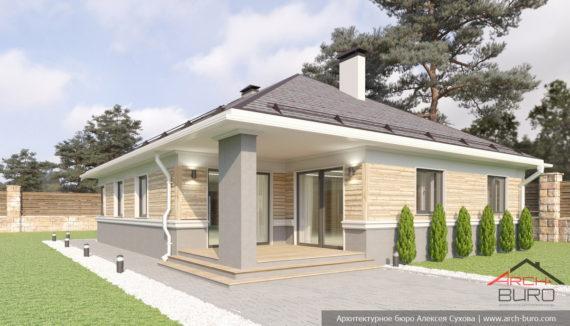 Дизайн фасадов одноэтажного дома фото