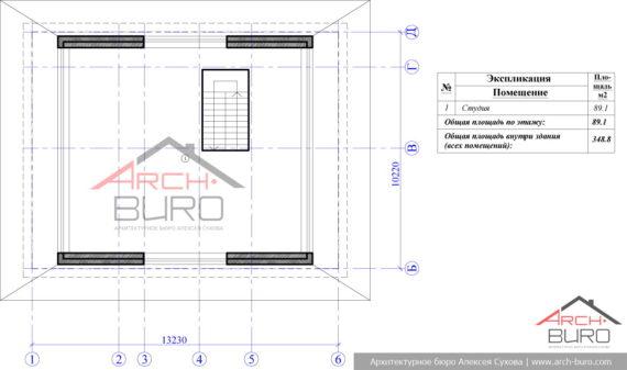План мансардного этажа частного дома