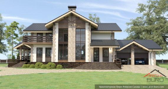 Проект дома в стиле модерн-шале