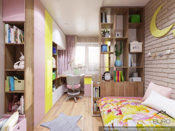 Дизайн и ремонт квартиры в Ташкенте. Интерьер детской дочери