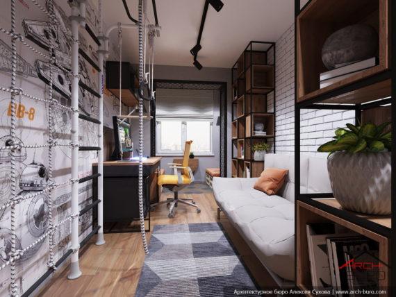 Дизайн и ремонт квартиры в Ташкенте. Интерьер детской сына