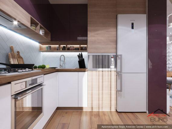 Дизайн и ремонт квартиры в Ташкенте. Интерьер кухни