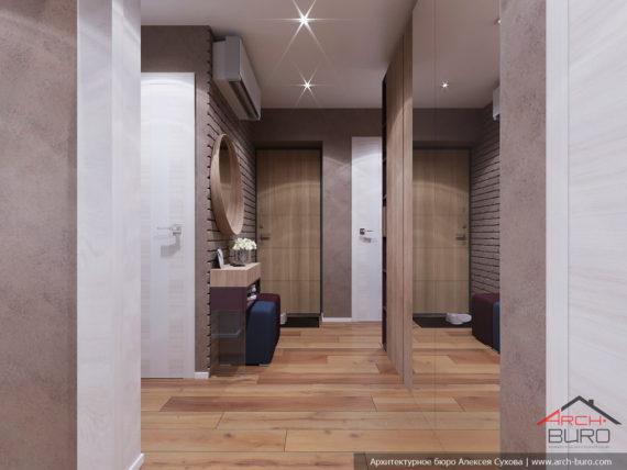Дизайн и ремонт квартиры в Ташкенте. Интерьер прихожей и коридора