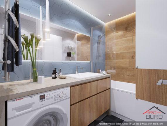 Дизайн и ремонт квартиры в Ташкенте. Интерьер ванной комнаты