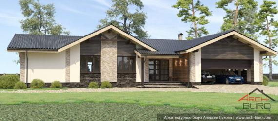 Прекрасный одноэтажный дом с гаражом, двумя спальнями и бассейном