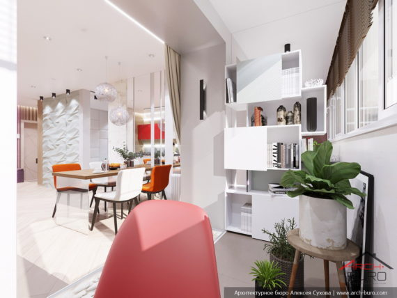Применение 3д панелей в дизайне небольшой квартиры. Интерьер утеплённой лоджии