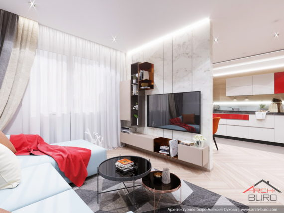 Применение 3д панелей в дизайне небольшой квартиры. Интерьер гостиной