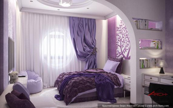 Спальня дочери. Женский интерьер